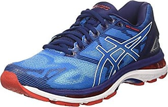 Asics Gel-Nimbus 19, Chaussures de Running Homme, Bleu (Indigo Blue/Safety Yellow/Electric Blue), 40.5 EU
