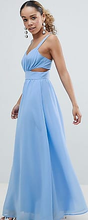 Discount Popular Outlet Pay With Visa ASOS DESIGN Petite Side Cut Out Maxi Dress with Cami Straps - Pale blue Asos Petite QXGxoe