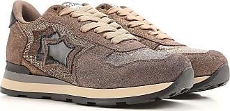Sneaker für Damen, Tennisschuh, Turnschuh Günstig im Sale, Goldbraun, Wildleder, 2017, 36 39 40 Atlantic Stars