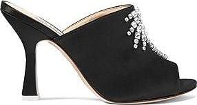 Attico Woman Pamela Embellished Satin Mules Black Size 36 Attico DnPZiMSz