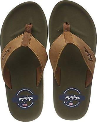 Sandfort at Sea Textile, Tongs Homme, Marron (Brown-Blue D07), 44 EUAustralian Footware