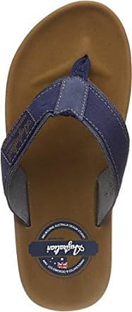 Sandfort At Sea Textile, Chanclas para Hombre, Marrón (Brown-Blue D07), 43 EU Australian Footware