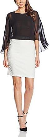 Axara Paris Vestido straight sin mangas para mujer, talla 36, color negro/crudo (écru)