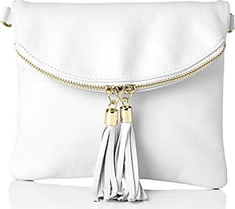 Bags4Less Femme Dubaï Clutch, 4x 19x 22cm - blanc - Weiß (Weiss),