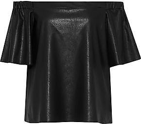 Bailey 44 Woman Cindy Off-the-shoulder Faux Leather Top Black Size XS Bailey 44 Cheap Looking For For Sale NUVnCK6VE