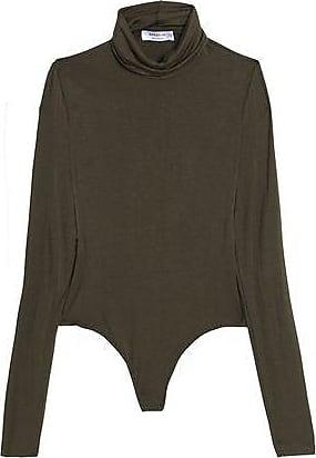 Bailey 44 Woman Mélange Stretch-jersey Turtleneck Bodysuit Army Green Size L Bailey 44 Buy Cheap Reliable EZWI7q5V