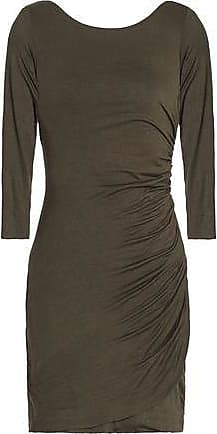 Bailey 44 Woman Twist-back Ruched Stretch-jersey Mini Dress Army Green Size L Bailey 44 jAbXonZ