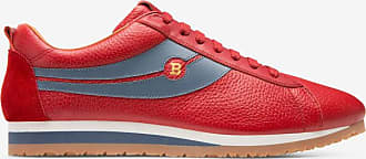 Piotre Red, Mens calf leather and suede driver in corvette Bally