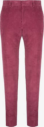 Corduroy Carrot Trousers Pink, Mens corduroy cotton trousers in cinnabar Bally