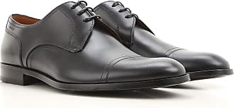 Lace Up Shoes for Men Oxfords, Derbies and Brogues On Sale, Black, Leather, 2017, 8 Bally