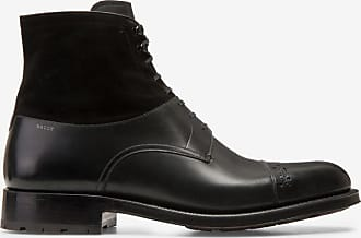 Lucien Black, Mens calf leather boot in black Bally