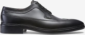 Nepos Black, Mens leather derby in black Bally