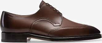Scrivani Brown, Mens leather Derby lace-up shoe in mid brown Bally