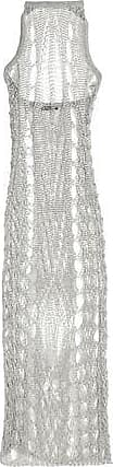 Balmain Woman Metallic Open-knit Halterneck Midi Dress Silver Size 36 Balmain Cheap Sale Outlet Locations Visit New Cheap Online How Much For Sale Pre Order For Sale Eefaob6f