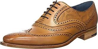 Barker McClean, Zapatos de Cordones Brogue para Hombre, Marrn (Cedar Calf/Blue Suede 26), 45 EU