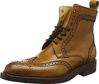 Barker McClean, Zapatos de Cordones Brogue para Hombre, Marrn (Cedar Calf/Pailsey Laser 86), 43 EU