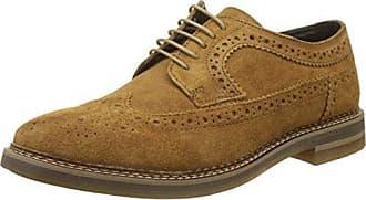 Base London Track Track_Gris (Suede Stone) - Zapatos de cordones de ante para hombre, color gris, talla 45