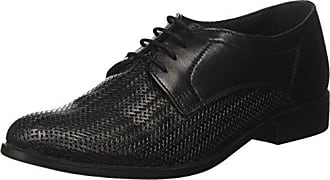 313220011100, Zapatos de Cordones Derby para Hombre, Negro (Schwarz 1000), 44 EU Bugatti