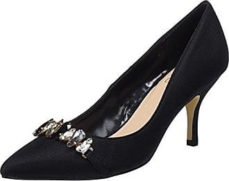 721250 Manteau, Des Chaussures Avec Ouvert Pour Les Femmes, Le Bout Noir (nero 6), 37 Eu