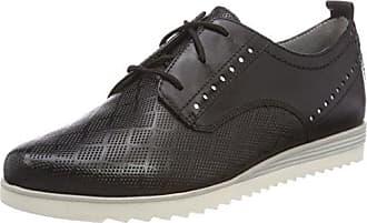 23740, Zapatos de Cordones Brogue para Mujer, Negro (Black), 40 EU Be Natural