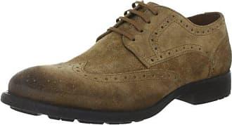 Belmondo - Zapatos de cordones de cuero para hombre, Marrón, 43 EU
