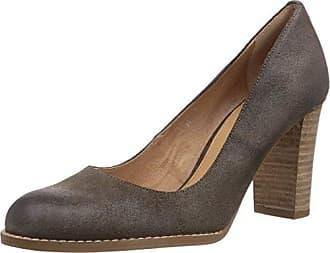 - Hotter Chaussures À Talons Avec Femme Bout Fermé En Cuir, Marron, Taille 35.5