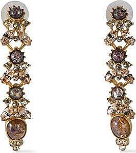 Ben-Amun Ben-amun Woman Gold-tone, Stone And Crystal Earrings Gold Size