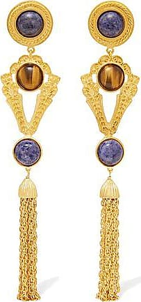 Ben-amun Woman Gold-tone And Stone Clip Earrings Gold Size Ben-Amun bDpBt7jK