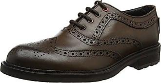 Ben Sherman Luck, Zapatos de Cordones Brogue para Hombre, Marrón (Chocolate), 45 EU