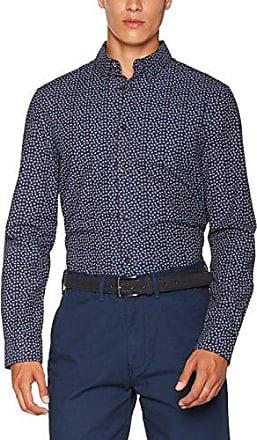 LS On End, Camisa Casual para Hombre, Azul (Navy Blazer 25), XL Ben Sherman