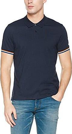 Mixed Collar, Polo Homme, Bleu (Midnight 36), XLBen Sherman