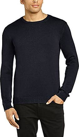Extra Fine Marino Wool Sweater In Colour Block, Pull Femme, Multicolore (Navy/Blue), X-LargeBenetton