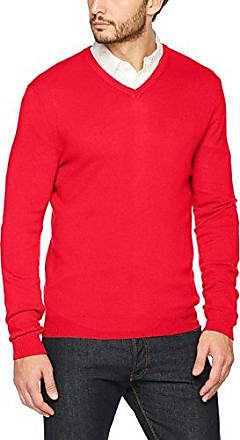 V Neck Pullover, Jersey para Hombre, Rojo (Spice Red 808), X-Large Pioneer Authentic Jeans