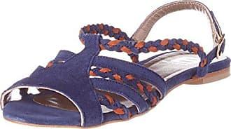 Sandale Tressee, Sandalias con Punta Abierta para Mujer, Azul (Marine 516), 38 EU Bensimon