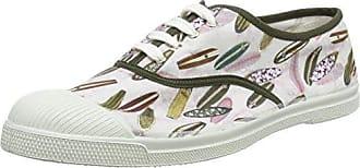 Bensimon Tennis Lacets Surf Prints, Zapatillas para Hombre, Multicolor (Imprime Palmiers), 45 EU