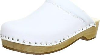 00407-100, Mules mixte adulte - Blanc (Weiß), 46.5 EUBerkemann