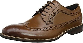 Bertie Radius, Zapatos de Cordones Oxford para Hombre, Negro (Black Leather), 42 EU