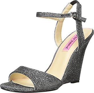 Betsey Johnson Taalia, Schuhe, Absatzschuhe, Sandaletten mit hohem Absatz, Schwarz, Female, 37