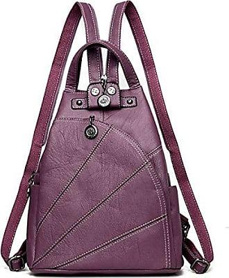 Koreanische Studenten Taschen Outdoor-Freizeit Reisen Sport Rucksack Canvas Tasche,Purple-OneSize BFMEI