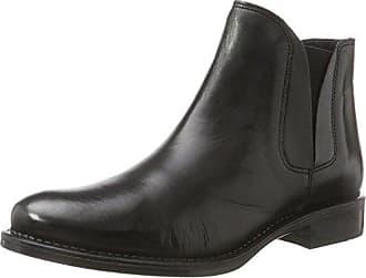 Bianco Mit Feinen Nieten, Chelsea Boots Femme, Noir (Black 10), 39 EU