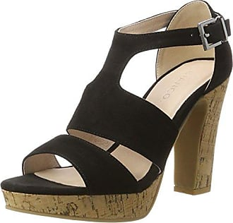 Womens Elastic Strap Sandal 35-48890 Closed Toe Heels Bianco ZXg383541
