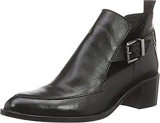 Plateau Stiefelette, Bottes Classiques Femme - Noir - Schwarz (Black)Bianco