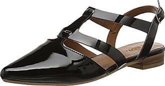 Open Slingback Shoe Mam16, Sandalias Mujer, Negro (Black 10), 39 EU Bianco