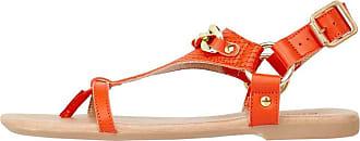 Sandales Bianco Avec Ceinture Or / Orange OcU4e