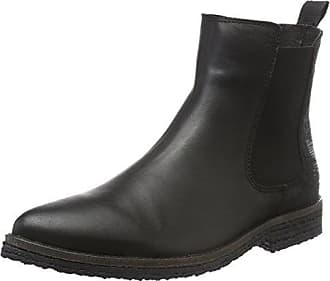Bianco Wildleder übergangs, Chelsea Boots Femme, (Black 2 11), 39 EU