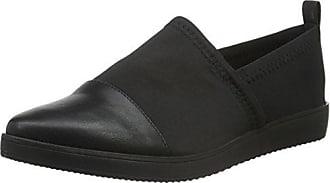 Damen Cutout Loafer 25-49186 Slipper, Schwarz (Black), 39 EU Bianco