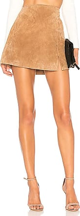 Suede Mini Skirt in Nude. - size 24 (also in 25,26,27,28,29,30,31) Blank NYC