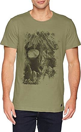 20705577, T-Shirt Homme, Grün (Oil Green 77202), SmallBlend