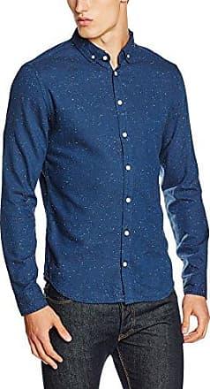 20702623, Camisa para Hombre, Azul (74634), XL Blend