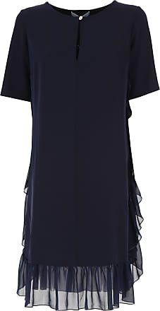 Dress for Women, Evening Cocktail Party On Sale, Blue, polyester, 2017, 10 14 8 Blumarine